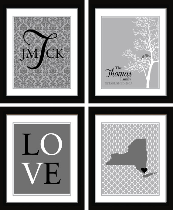 Wedding Gift Wall Art : Wall Art// Wedding Gift// Monogram//Mothers day gift//Home Decor ...
