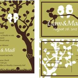 Custom Wedding Invitation//personalized wedding suite: matching RSVP// fully customized to your wedding and colors